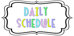 1st Year Daily Schedule 2021 - 2022